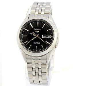 Seiko Analog Business 5 Automatic Silver Mens SNKL23K1