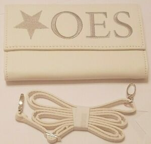 OES Crossbody - Clutch Purse with Detachable Chain Shoulder Strap - Eastern Star
