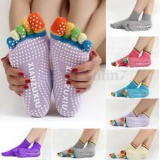 UK Five Toes Yoga Sock Pilates Fitness Gym Exercise Non-Slip Grip Massage Socks