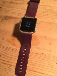 Fitbit Blaze Smart Fitness Watch Large Purple