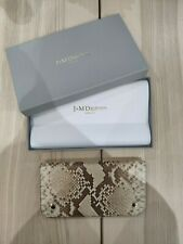 NEW J&M DAVIDSON beige python Leather purse wallet £425 MADE IN ITALY
