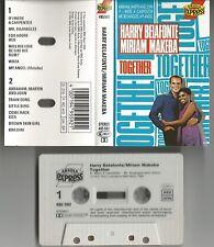 "Harry Belafonte/Miriam Makeba ""together"" MUSICA CASSETTA/Tape ARIOLA EXPRESS"