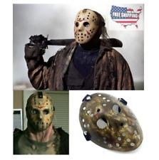 Friday The 13th Horror Hockey Mask Cosplay Costume Prop (Gray) Jason vs Freddy