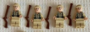 LEGO German Soldier  Indiana Jones lot of 4 minifigures with accessories.