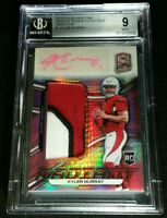 BGS 9/10 1/1 KYLER MURRAY RC AUTO /15 ROOKIE PRIZM NEON PINK *3 CLR 2019 Spectra