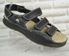 ECCO Mens Black Leather Sandals Summer Walking Outdoor Shoes Size 11.5 UK 46 EU