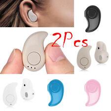 2PCS Mini Wireless Sport Bluetooth Headset Earbuds STEREO In-Ear Earphone