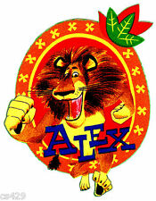 "6.5"" MADAGASCAR ALEX LION CHARACTER FABRIC APPLIQUE IRON ON"