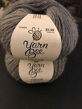 Lot Of 2 Skeins Hobby Lobby Yarn Bee Chloe Wool Yarn In Dove Gray