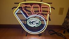 """Green Bay Packers Wisconsin Neon Sign 17""""x16"""" Beer Glass Light Lamp Bar Display"""