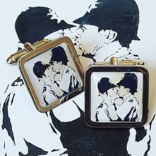 Unique! BANKSY 'KISSING COPPERS' CUFFLINKS  stencil GAY graffiti BRISTOL urban