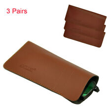3 PACK Eyeglass Protector Pouch Soft PU Cover Sunglasses Reading Glasses H770