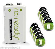 Batería Recargable 9V 200mAh Paquete de 10 Ampolla Solo - Rechargeable
