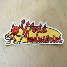 World Industries skateboard vinyl sticker devil man bumper decal Rocco classic