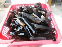 1/2LB 12-30pcs 1.7'' Lot black Quartz Crystal Points Terminated Wand Specimen