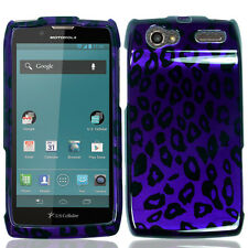 For Motorola Electrify 2 XT881 HARD Case Snap Phone Cover Purple Leopard