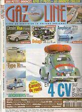 GAZOLINE 147 CITROEN VISA DELAGE D6 11 N AMPHICAR 770 GENERAL MOTORS 1933 1938