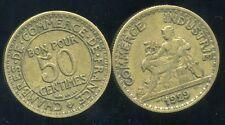 50 centimes   1929  CHAMBRE DE COMMERCE