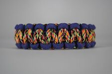 550 Paracord Survival Bracelet Cobra Purple/Overkill Camping Military Tactical