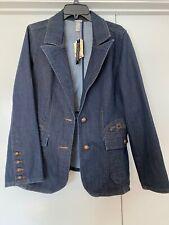 Venezia Size 18/20 Women's Embroidered Denim Jacket Collared Button Front