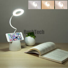 Dimmable LED Desk Lamp Reading Light Table Beside Touch Sensor USB Rechargeable