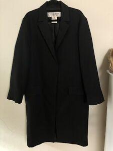 *DFSS* Yves Saint Laurent Rive Gauche Size 40 Womens Wool Silk Coat Vintage