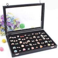 100 Earring Ring Jewellery Display Storage Box Tray Show Case Organiser Holder