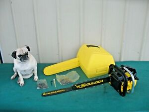 """Vintage Collectible McCulloch Automatic Chainsaw with 14"""" Bar with Case (Video)"""