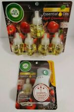 Air Wick Apple Cinnamon Plug In Warmer Essential Oil Refill Air Freshener +5 NEW