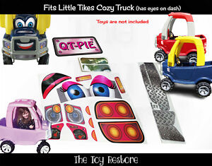 Pink QT-Pie Replacement Decals fits Little Tikes Cozy Truck With Eyes on Dash