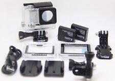 NEW GoPro 100% Original HERO4 Housing, sticky mounts & 2 x Bonus Battery's.