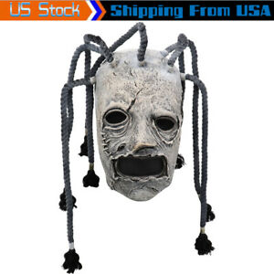 W/ Braid Cosplay Corey Taylor Funny Halloween Mask Latex Full Face Costume Props