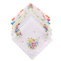 Pack of 10 Assorted 100% Cotton Handkerchiefs Hankies Pocket Square 30x30cm