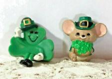 Hallmark St. Patrick'S Day Merry Miniatures-Sitting Shamrock-Mouse W/Shamrocks