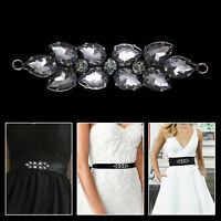 Rhinestones Diamante Sew on Crystal Black Motif for Wedding Bridal Dress Craft