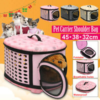 Large Pet Dog Cat Puppy Travel Carry Carrier Tote Cage Bag Crates Kennel