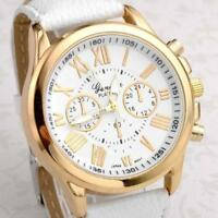 Hot Sale Womens Watch Stainless Steel Leather Analog Quartz Wrist Watches