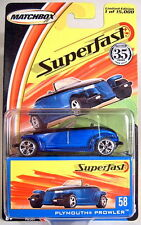 Matchbox Neue SF Serie 2004 No. 58 Plymouth Prowler in blaumetallic