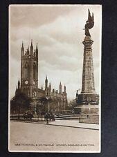 RP Vintage Postcard - Northumberland #B3 War Memorial & St Thomas Newcastle 1921