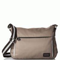 Calvin Klein Ripstop Messenger Handbag Nylon Purse, Olive NWT $148