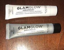 GlamGlow DreamDuo 2-Step Overnight Dreamserum Dreamseal .5oz Each