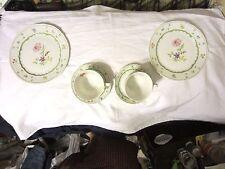 Heinrich Chambord 1 Cup & 1 Saucer, 1 Salad / Dessert Plate Floral W. Germany NR