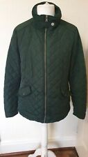 Quilted Bottle Green Next Coat Jacket Size 16