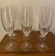 Vintage 24% Lead Crystal Fluted Champagne Glasses. Set of 6. Family Pieces. A+