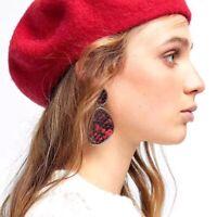 New Women Earring Snake Leather Leopard Geometric Drop Dangle Earrings Jewelry