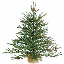 Vickerman Unlit Carmel Pine Artificial Christmas Tree Artificial Pine Cones New