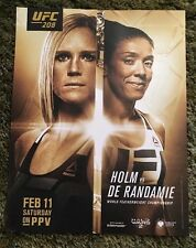 "UFC 208 Holm Vs De Randamie PROMO FIGHT POSTER COUNTER CARD Picture 8 1/2"" X 11"""