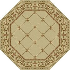 Universal Rugs 4882 IVORY 6 OCTAGON 5 Ft. 3 In. Octagon Area Rug NEW