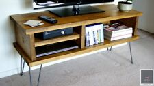 KRUD TV Stand~Hairpin Legs~Solid Wood~24 Colours~Chunky~Rustic~Country