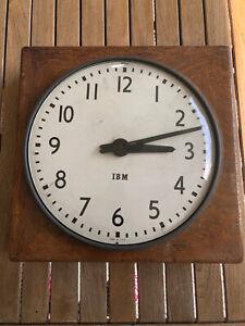 Vintage IBM Wall Clock 50's 60's Industrial 13inch